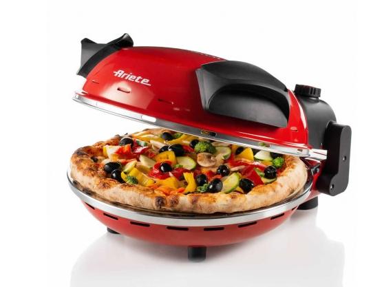 Ariete 0909 elektrischer Pizzaofen, rot