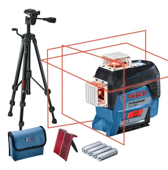 Bosch Professional Linienlaser GLL 3-80C + BT150 (0601063R01)
