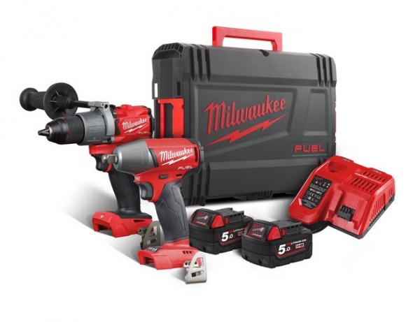 Milwaukee M18FPP2C2-502X FUEL™ Powerpack 18 Volt 5.0 AH Li-ion